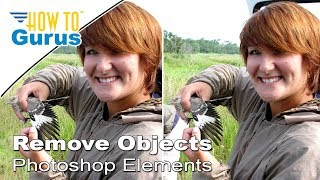 Remove Background Objects using Selections in Adobe Photoshop Elements 15 14 13 12 11 Tutorial