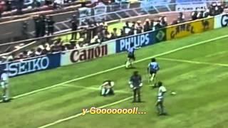 Maradona Goal of the Century - Víctor Hugo Morales commentary - Argentina-England 2-1 1986