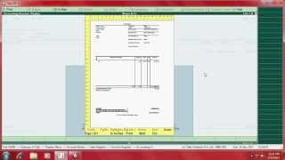 How to set voucher number and copy invoice in tally.erp9