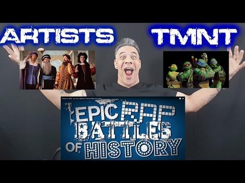 Artists vs TMNT. Epic Rap Battles of History Season 3 Finale REACTION!!!