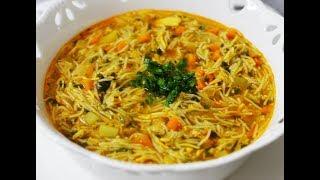 طرز تهیه سوپ ورمیشل با مرغ، رسپی خوشمزه  |Persian vermicelli Soup Recipe- Eng Subs