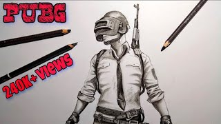 How to draw PUBG character step by step