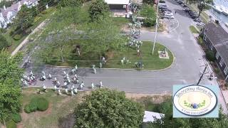 Time-lapse aerial view of 4th Annual Buddy Walk by the Sea