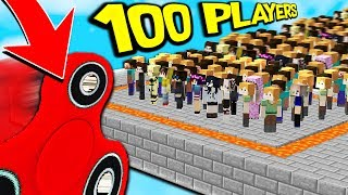 KILLING 100 PEOPLE WITH A FIDGET SPINNER! (Minecraft BED WARS Trolling)