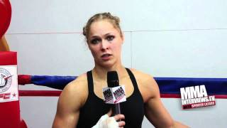 Ronda Rousey extended interview, talks Miesha Tate at Strikeforce, weight cut & much more