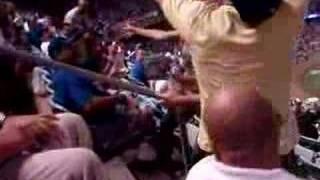 Dodger game ass slap!