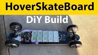 Baja Electric Skateboard using Hoverboard wheels (HoverSkateBoard)