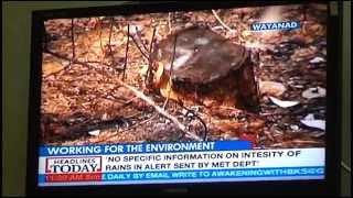 Suma Vishnudas works for saving trees in Wayanad