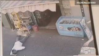 Italian mafia killing video: murder caught on video.