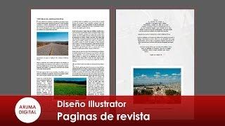 Illustrator 158 Paginas de revista y ceñir texto