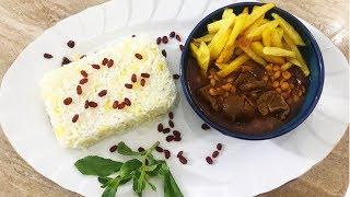 ASMR Cooking,  Persian Gheymeh, Meat & Lentils Stew | خورش قیمه سنتی با صدای آرامبخش آشپزی