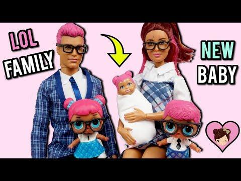 Xxx Mp4 LOL Families Teachers Pet Family Has A New Baby Custom Barbie DIY 3gp Sex