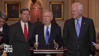 WATCH: Senate Republican leaders hold news briefing after weekly policy meeting
