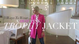 How To Wear A Hot Pink Blazer 3 Ways | Summer Lookbook 2017