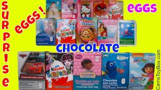 Surprise Eggs Opening Kinder Shopkins MLP Minnie Angry Birds Disney Frozen Dora Cars Chocolate