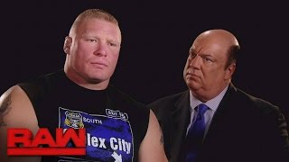 Brock Lesnar explains what he'll do to Goldberg at Survivor Series: Raw, Nov. 7, 2016