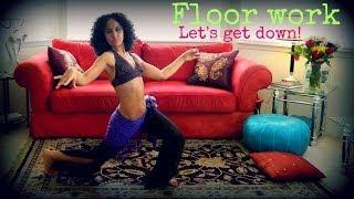 Belly dance floor work: how to go down to the floor
