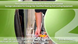 Constant Home Comfort TIPS TO CHOOSE THE RIGHT FURNACE & AC COMPANY