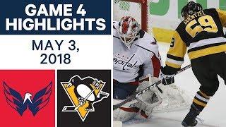 NHL Highlights   Capitals vs. Penguins, Game 4 - May 03, 2018