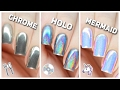Download Video Apply Chrome, Holo, & Mermaid Nail Powders PERFECTLY! 3GP MP4 FLV