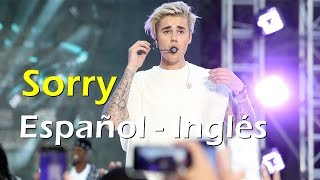 Justin Bieber Sorry Español Inglés Video Official Lyrics + traducción