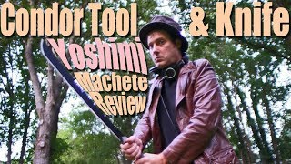 Condor Tool & Knife Yoshimi Machete Review and Chopping Abuse Test