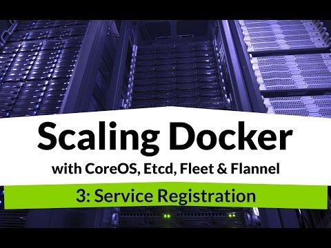Scaling Docker #3 - Docker Service Registration with Etcd & Flannel
