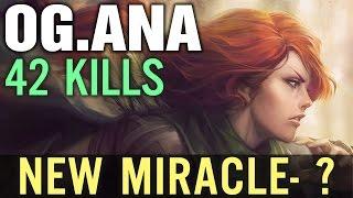 Dota 2 OG.ANA Windranger Middle 42 Kills - New OG.Miracle ???
