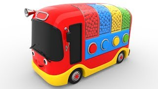 Colors for Children to Learn with Bus Transporter Toy Color Balls - Educational Videos