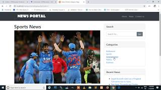 News Portal projects  in PHP and MYSQL , News Portal projects free download