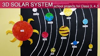 सोलर सिस्टम  | How to make Solar System chart (3D Model) at home  hindi  | Solar System kid Project