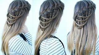 Cascading Waterfall Braid | Waterfall Braid Hairstyles | Braidsandstyles12