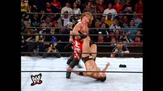 Chris Jericho doing his Walls of Jericho to The Rock in Royal Rumble 2002 (HD)