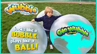WUBBLE BUBBLE BALL Family Fun playtime outside with GIANT BALL kids Video Alan's Toys Review