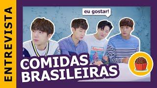 UNIQ provando comidas brasileiras || Kpop Idols try brazilian snacks | UNIQ no Brasil (Parte 2)