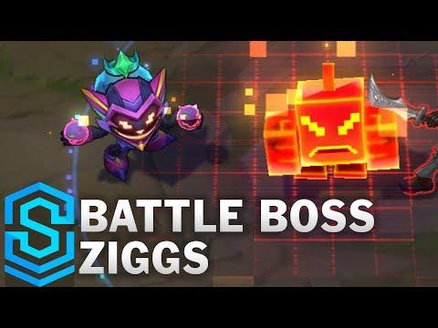 Battle Boss Ziggs Skin Spotlight - Pre-Release - League of Legends