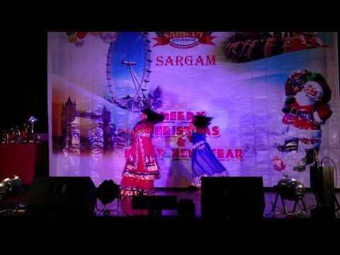 Sarangy and Anasooya are on stage Sargam Stevenage