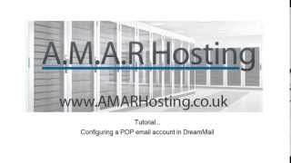 Configure dreamMail with A.M.A.R Hosting Shared Web and Email POP3 Email Account