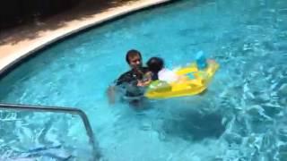 Advait in swimming pool