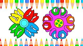Fun Draw Fedget Sprinner Combined Animation For Baby - Learn Drawing And Coloring Book For Kids