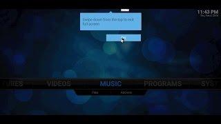 Kodi Blue Box Swipe Down - StreamTVUK.com