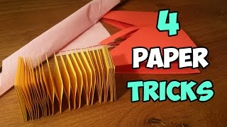 4 Amazing Paper Tricks You've Never Seen Before | Paper Hacks
