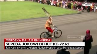 Bagi-bagi Sepeda Ala Presiden Jokowi di HUT Ke-72 RI - Merdeka dalam Bhinneka