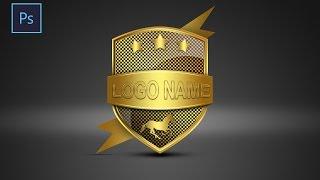 Photoshop Tutorial |  Logo Design shield | ( Sahak Graphics )