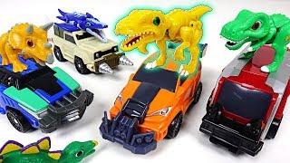 Dino Mecard capture car Devonne and tiny dinosaur Nychus