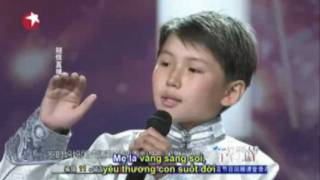 China's Got Talent 2011.Million viewers cried when the Mongolian orphan boy  singing.Guitar cover.