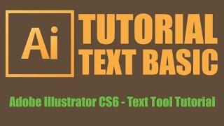 Adobe Illustrator CS6 - TEXT BASIC - Text Tool Tutorial (Bangla)