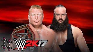 No Mercy: Braun Strowman vs. Brock Lesnar - Universal Championship Match - WWE 2K17 Match Sims