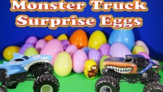 SURPRISE EGGS 25 Monster Truck Surprise Eggs a Monster Truck Surprise Egg Video