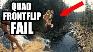 WORLD'S BEST CLIFF JUMPERS!!! Quads & Triple Flips Off Massive Waterfall!!!